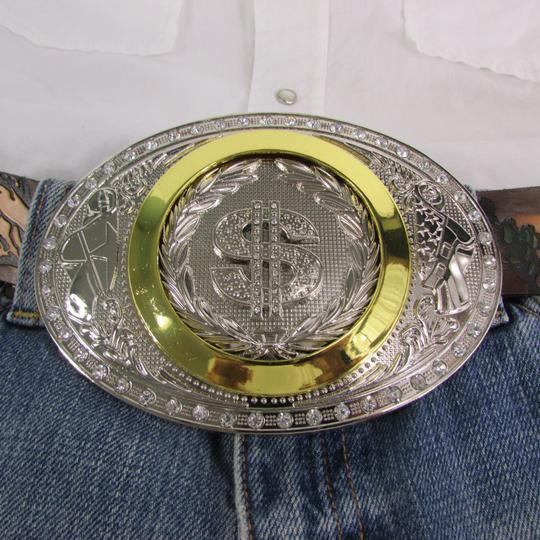 Alwaystyle4you New Men Western Cowboy Buckle American Dollar Sign Money $ Image 5