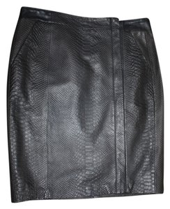 Vince Leather Skirt Brown