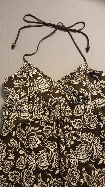 Brown Floral Maxi Dress by Ann Taylor Halter Maxi Summer Comfortable