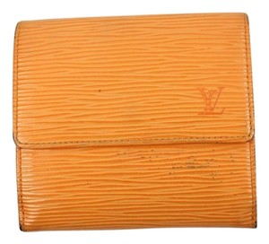 Louis Vuitton Orange Epi Wallet 78LVA701