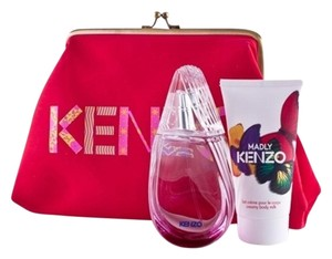 Kenzo Kenzo Madly Women 3 Piece Gift Set 1.7oz eau de parfum spray + 1.7oz B/L + Cosmetic Bag. * Brand New*