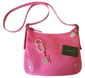 Longchamp Quadri Saffiano Shoulder Key Cross Body Bag