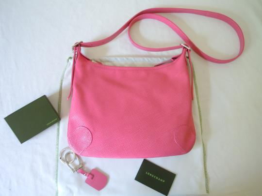 Longchamp Quadri Saffiano Shoulder Key Cross Body Bag Image 2