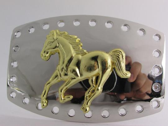 Alwaystyle4you New Men Women Belt Buckle Polished Western Style Silver Gold Horse Image 1