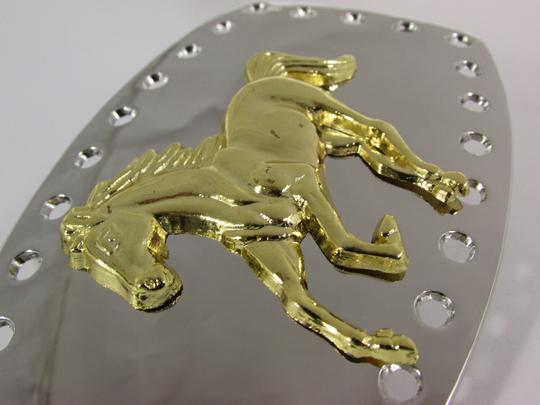 Alwaystyle4you New Men Women Belt Buckle Polished Western Style Silver Gold Horse Image 2