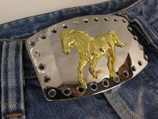Alwaystyle4you New Men Women Belt Buckle Polished Western Style Silver Gold Horse Image 3