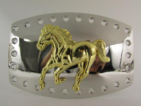 Alwaystyle4you New Men Women Belt Buckle Polished Western Style Silver Gold Horse Image 6