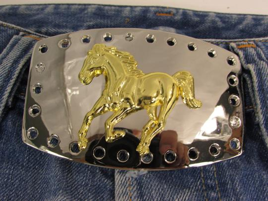 Alwaystyle4you New Men Women Belt Buckle Polished Western Style Silver Gold Horse Image 7