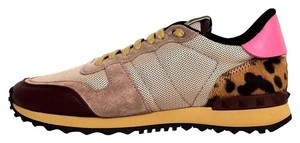 Valentino Leopard Leather Pink, Beige Athletic