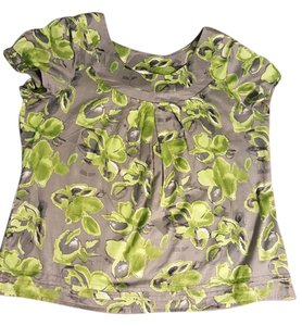 Fred David Top Grey with Green pattern