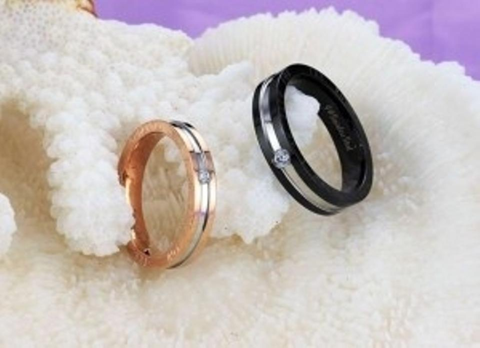 59beacdeefb21 Silver/Black/Rose Gold Bogo Free 2pc Matching Couples Band Rings Free  Shipping Jewelry Set