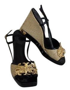 Tory Burch Sandal Black, tan Wedges