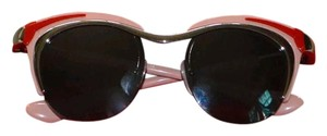 Prada Pink, red Prada cat-eye sunglasses