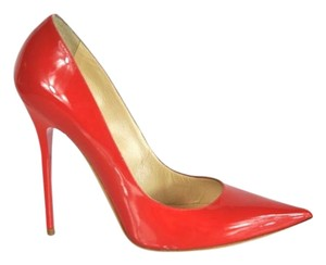 Jimmy Choo Pointed Toe Patent Leather Red Rsd Pumps