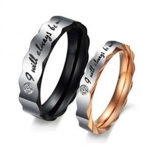 Silver/Black/Rose Gold Bogo Free 2 Pc His Her Band Free Shipping Jewelry Set