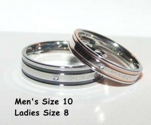 Bogo Free 2pc Matching Silver & Black Band Set Free Shipping
