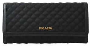 Prada NEW Prada Tessuto Quilted Long Continental Wallet in Black