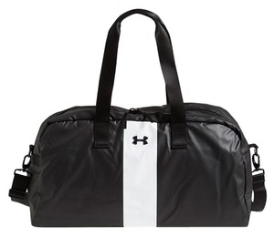 Under Armour Gym Dance Duffle Stripe Black, White Travel Bag