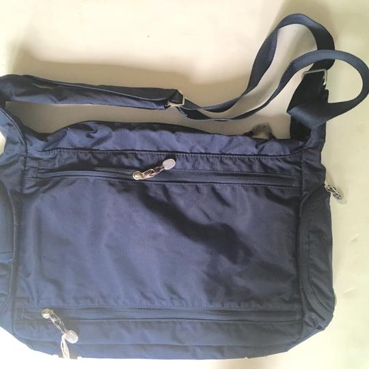 Ebags Kayla Town Square Nylon Travel NAVY BLUE Messenger Bag Image 1