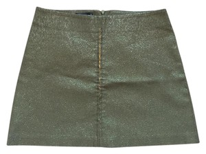 bebe Sequin Mini Mini Skirt olive and gold