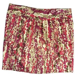 Ann Taylor Mini Skirt Purple Berry Taupe Grey