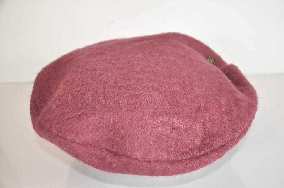 198f3638 Louis Vuitton Mauve Oversized Beret with Large Logo Dice Pin Hat - Tradesy