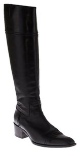 Michel Perry Women's Leather Knee High Black Boots