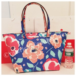 Kate Spade Zip Top Flowers Colorful Oversized Tote in multi