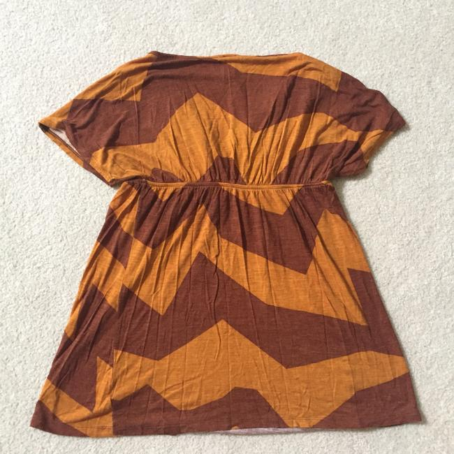 Swell Baby Doll V Neck Zigzag Top Red orange Image 2