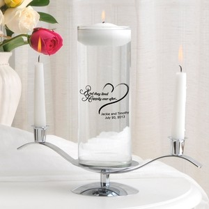 Personalized Romance Floating Unity Candle Set - Various Designs