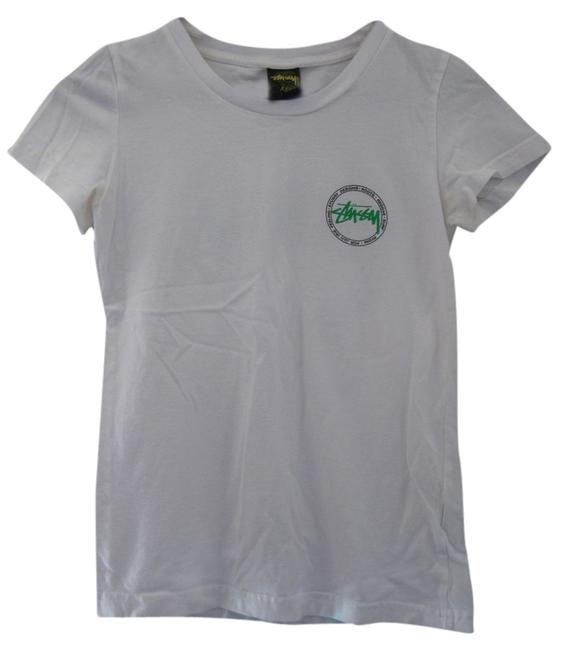 Preload https://item4.tradesy.com/images/stussy-white-tee-shirt-size-2-xs-1721043-0-0.jpg?width=400&height=650