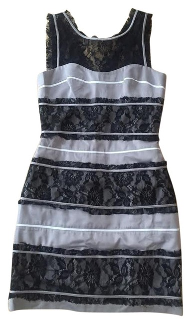 Preload https://img-static.tradesy.com/item/17210770/bcbgeneration-silver-and-black-above-knee-cocktail-dress-size-6-s-0-1-650-650.jpg