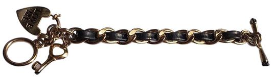 Juicy Couture Juicy Couture Toggle Bracelet: Black And Gold: Heart And key Style Image 1
