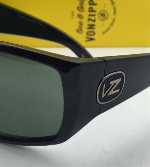 Von Zipper New VONZIPPER Sunglasses VZ BERZERKER Black Gloss Frame w/ Vintage Grey lenses Image 2