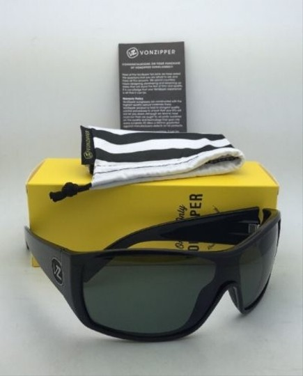 Von Zipper New VONZIPPER Sunglasses VZ BERZERKER Black Gloss Frame w/ Vintage Grey lenses Image 7
