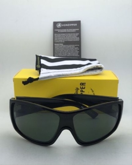 Von Zipper New VONZIPPER Sunglasses VZ BERZERKER Black Gloss Frame w/ Vintage Grey lenses Image 8