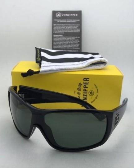 Von Zipper New VONZIPPER Sunglasses VZ BERZERKER Black Gloss Frame w/ Vintage Grey lenses Image 9