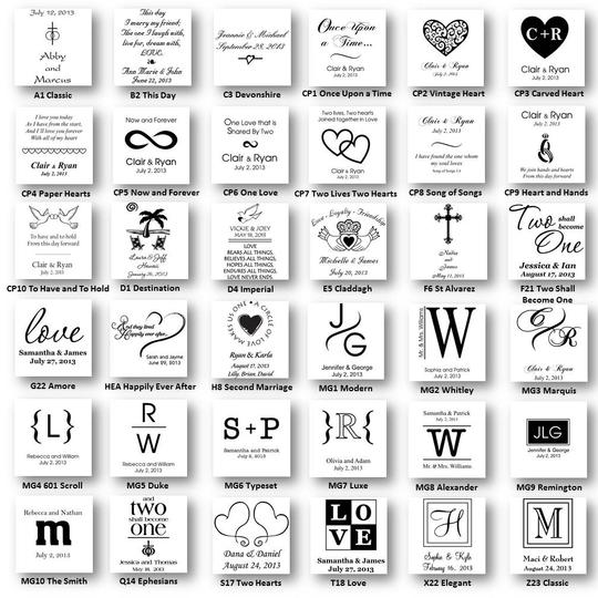 Personalized Hand Painted Heirloom-quality Deluxe Wedding Unity Candle Set - Various Designs