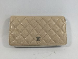Chanel Caviar Leather Zipped Wallet