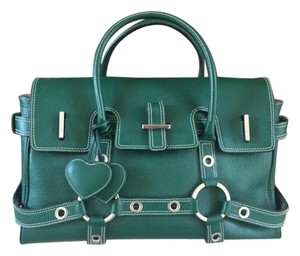 Luella Travel Laptop Green Work Holiday Satchel in Emerald Green