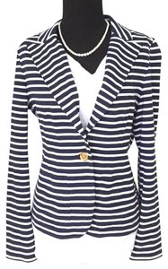 Lauren Ralph Lauren Navy and White Blazer