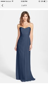 Amsale French Blue Strapless Dress