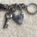 Juicy Couture Silver/Gray Leather Toggle Bracelet: Juicy Couture: Excellent Condition: Heart/Key Style Image 10