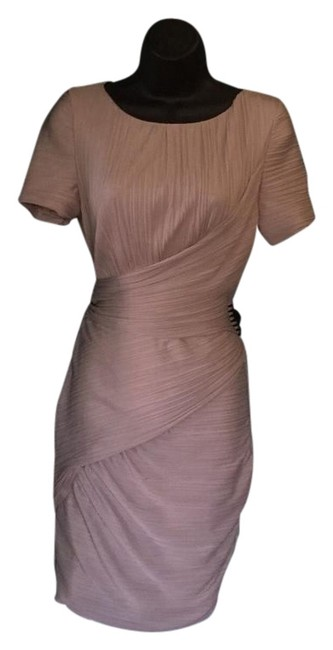 Item - Beige Fitted Short Night Out Dress Size 8 (M)
