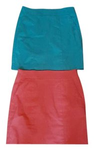 Ann Taylor Skirt Pink an Tiffany's blue color