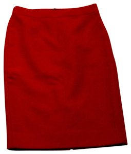 J.Crew Pencil Skirt Dark Poppy/Red