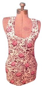 Rose athletic tank top