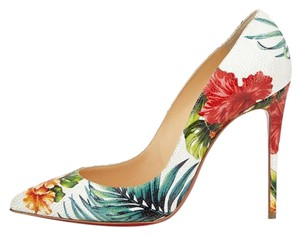 Christian Louboutin Floral Leather multi-Colored Pumps
