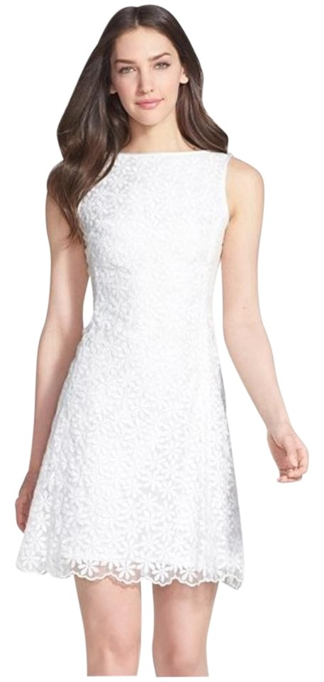 6e9308f915c1 Kate Spade White Floral Izzy Mid-length Short Casual Dress Size 12 ...