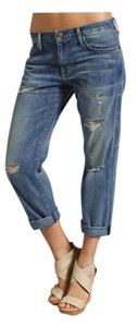 Current/Elliott Destroyed Distressed Ripped Boyfriend Cut Jeans